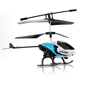 FACILLA® 3.5CH RTF Hélicoptère Héli IR RC Radiocommande Télécommande Gyro Enfant BLEU