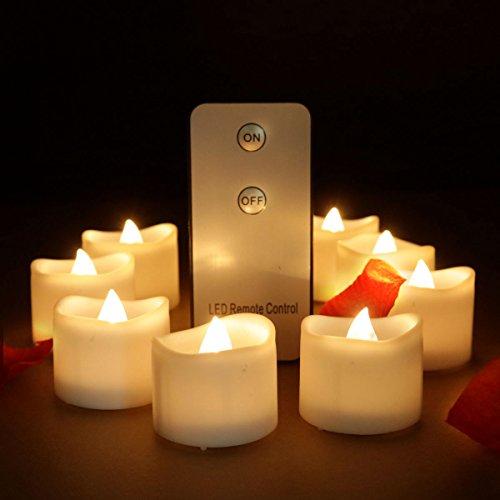 Warmweiß Flammenlose Led Teelichter Kerze mit Fernbedienung Funktion Flackern Batteriebetriebene Teelicht Kerzen für Hochzeit Weihnachten Votiv Haus Dekorieren Kerze Nachtlichter ()