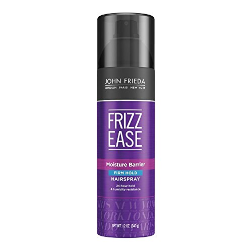JOHN FRIEDA Frizz Ease Moisture Barrier Firm Hold Spray, 12 Ounce by KAO Brands [Beauty] (English Manual)