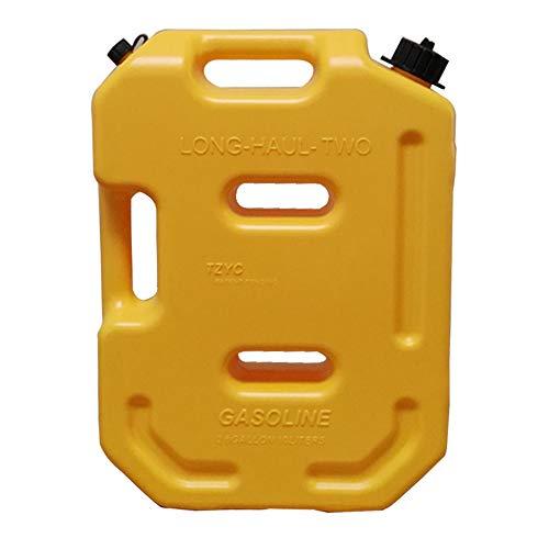Contenitore per gas in plastica, taniche per serbatoi di carburante da 10 litri, riserva di gasolio portatile da 2,6 galloni Stoccaggio diesel a benzina, riserva di emergenza per bombole di gas,Yellow