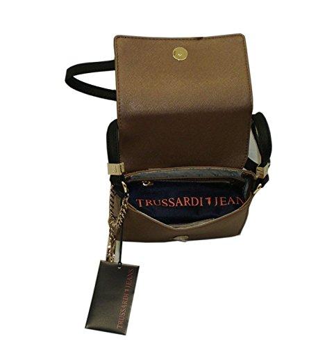 Borsa con tracollina TRUSSARDI JEANS B557 shoulder bag ischia Bronzo
