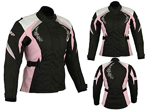 Biker Wear Giacca protettiva antipioggia impermeabile da moto femminile da donna