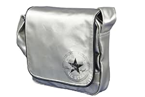 Converse Sac bandoulière Umhängetasche Flap Bag Vintage,  argent – metallic silver, 410508-021