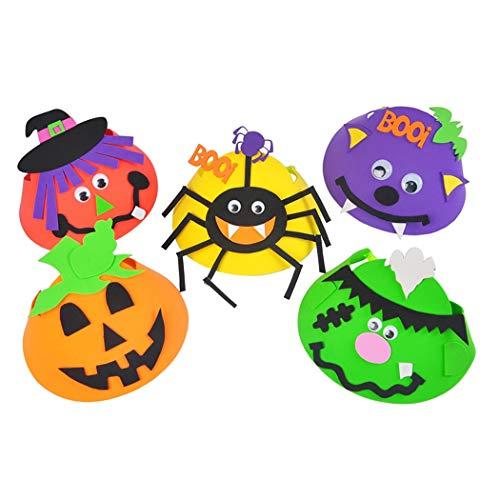 ZOYLINK 5PCS Halloween Hut Sortierte Dekorative DIY Halloween Kappen Kostüm Hut Partei Hut (Halloween-kostüme Diy Baby-jungen)