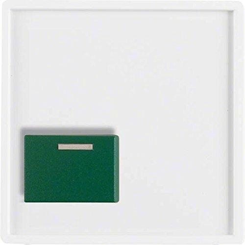 Hager Q.1–Kappe Druckschalter off grün unten weiß Polar (Unten Grün)