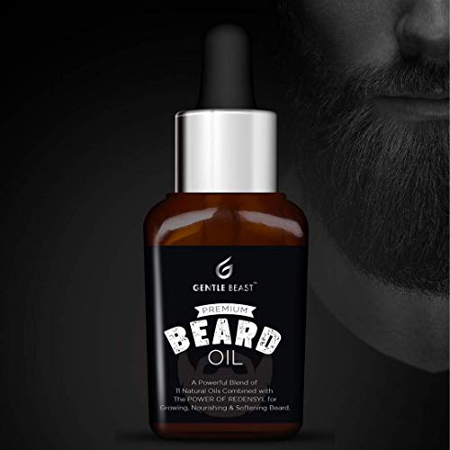 Gentle Beast Beard Oil for Growth, Nourishment and Softening | All-in-1 Beard Oil Contains Redensyl, 11 Natural Oils and Shea Butter