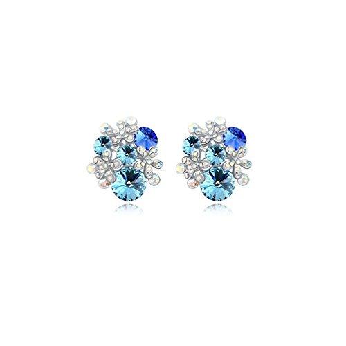 Erica Boucles d'oreilles plaqué or scintillant autrichienne Crystal Geometry Earrings cadeau parfait pour les femmes filles #1