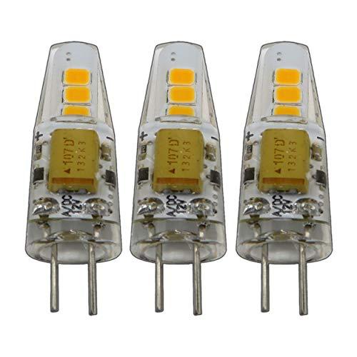3x Stk. G4 mini LED 2 Watt 12V AC/DC dimmbar warmweiß aus Silikon (Silica Gel) Lampe Leuchte Leuchtmittel für Dimmer
