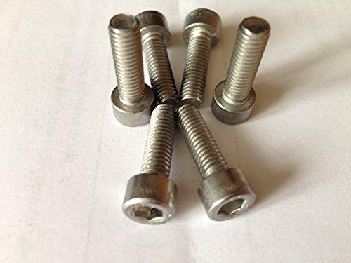 Generic 10x Sechskantschrauben, 5mm M5-Schrauben für Mountainbike- / Fahrrad-Flaschenhalter/-Lenker --- Silber