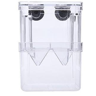 Acrylic Self-Floating Fish Fry Breeding Box Hatchery Isolation Incubator Divider Tank for Aquarium Equipment S Size 7