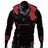 #6: Fancyku Men's Side-Zipper Hoodie Jackets Outwear