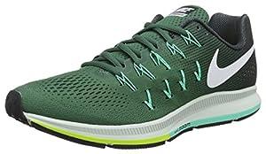 Nike Air Zoom Pegasus 33, Men  Training Running Shoes, Green (Green Stone/Seaweed/Green Glow/White), 8.5 UK (43 EU)