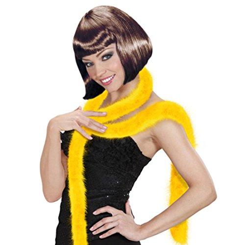 NET TOYS Boa sciarpa piume gialle lunghezza 2m stola marabù per costume ballerina samba charleston - 2 m