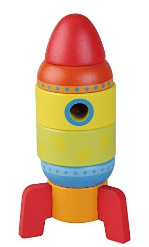 Sun Baby AB4477 Holzturm- Rakete, mehrfarbig