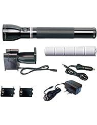 Maglite Mag Charger 220 VOLT - Linterna de acampada y senderismo, color negro