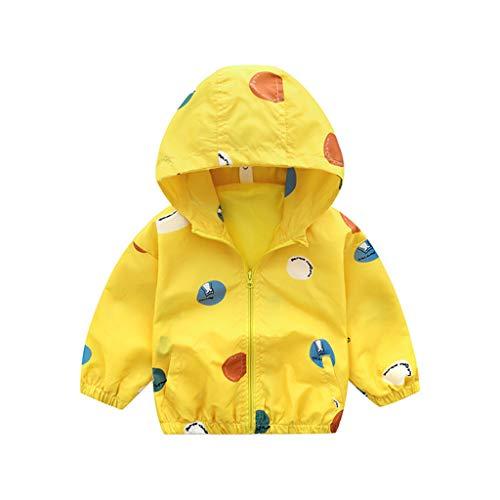 Livoral Kleinkind-Baby-Dinosaurier-Cartoon-Tier mit Kapuze Mantel-Jacke Outwear Windsicher(I,120)