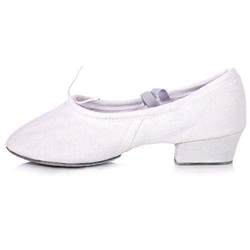 WXMDDN Donna scarpe da ballo tela white scarpe da ballo fondo morbido insegnanti scarpe da ballo danza del ventre scarpe scarpe di esercizio Panno bianco