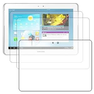 ebestStar - Pour (Tablette) Samsung Galaxy TAB 2 10.1 P5100 / P5110 - LOT DE 3 FILM PROTECTEUR ANTI-RAYURE / protection d'écran tactile, LCD, cristal, transparent + chiffonnette (microfibre / chiffon)