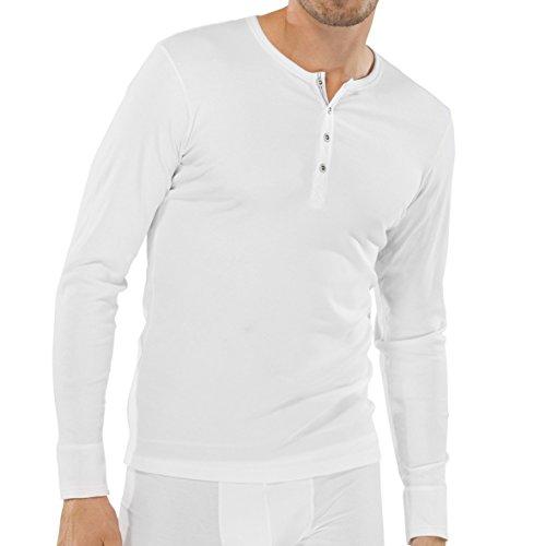 Schiesser - Herren Shirt langarm Doppelripp elastisch schwarz, 2016/2017, 123628 weiß (100)