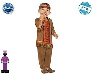 Atosa-61322 Atosa-61322-Disfraz Indio-Bebé + 24 Meses-NIño-Marrón, color (61322)