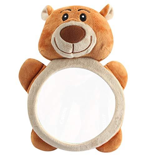 Mentin Miroir Auto Bébé Rétroviseur de Surveillance Bébé pour Siège Arrière Miroir de Voiture pour Bébé en Sécurité,Ours Brun