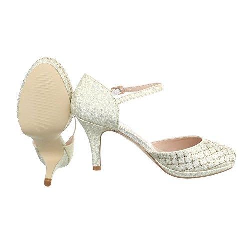Ital-Design , chaussures compensées femme Or