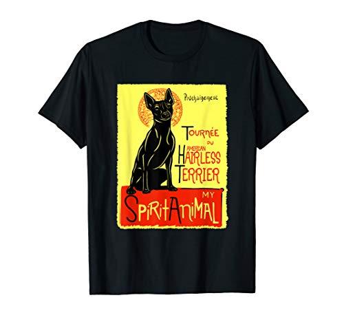 Süßer American Hairless Terrier Spirit Animal Hund Grafik  T-Shirt -