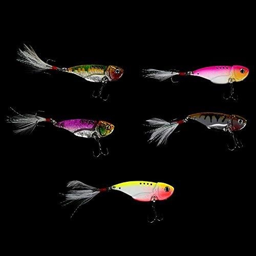 SLB Works 1X(Heng JIA 5pcs VIB Spoon Blade Metal Fishing Lure Bream Bass Flathead 5.5 L3O8