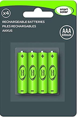 4 Stück wiederaufladbare Akkus, Ni-Mh, AAA, 600mAh, 1,2V, für Solar-Produkte