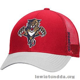 Reebok Men's Florida Panthers Structured Meshback Snapback Cap Red/Grey - VH58Z -