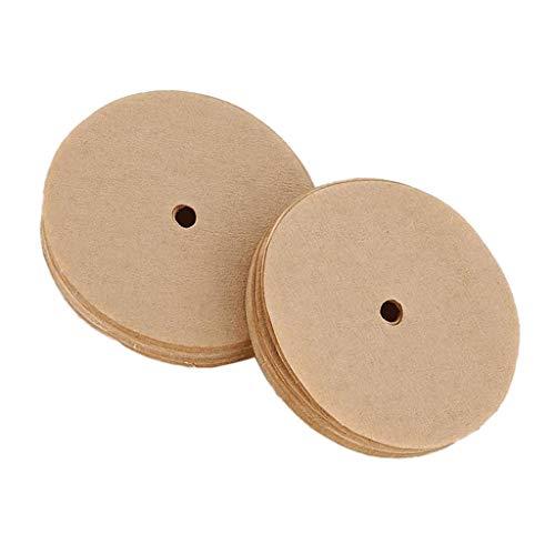 SM SunniMix 100 Stück Kaffeekanne Papierfilter aus Holzfaser Teefilter Teekanne Tasse Kaffeesieb...