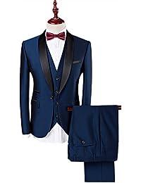 YOUTHUP Costume homme Tuxedo Diner trois-pièces d'affaire mariage business Suit un bouton à la mode slim fit veste +gilet +pantalon