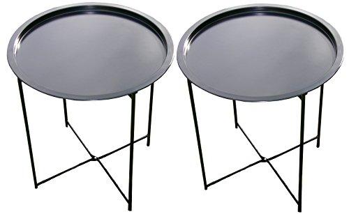 Unbekannt [ 2 Stück ] Tabletttisch Grill-Beistelltisch, Grilltisch KLAPPBAR, Garten Tisch Klapptisch Ablage