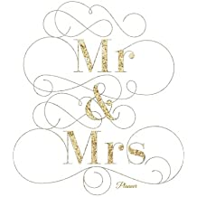 Mr & Mrs Planner: Gold Design Plan 2017 Together With The Best Weekly Schedule Diary At A Glance |Get things done, Weekly Planner, 52 weeks, 8x10in