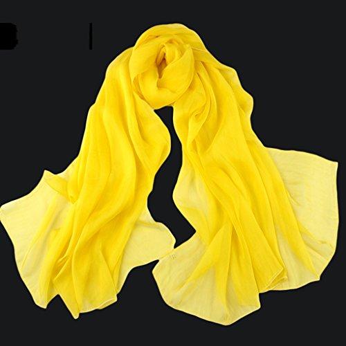 serviette de plage Écharpe de couleur sauvage Écharpe en soie Écharpe en soie ( Couleur : #7 ) #4