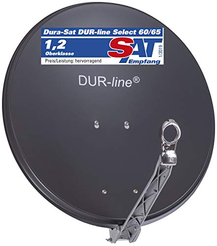 DUR-line Select 60cm/65cm Anthrazit Satelliten-Schüssel - Test + Sehr gut + Aluminium Sat-Spiegel