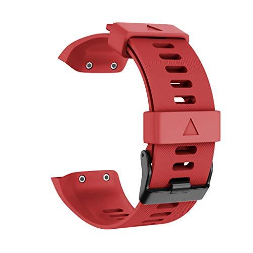 TianranRT Sport Silikon Ersatz Armband Band Gurt für Garmin Forerunner 35 (Rot)