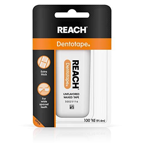 Reach Reach dentotape Zahnseide gewachst Tape, geschmacksneutral 100Yards (Pack von 3) -