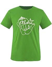 Hawaii Aloha Hang Loose - Herren Unisex T-Shirt Gr. S bis XXL Diverse Farben