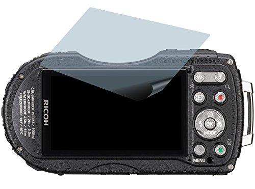 4ProTec Ricoh WG-5 GPS (2 Stück) Premium Displayschutzfolie Bildschirmschutzfolie kristallklar - Kratzfest UND PASSGENAU