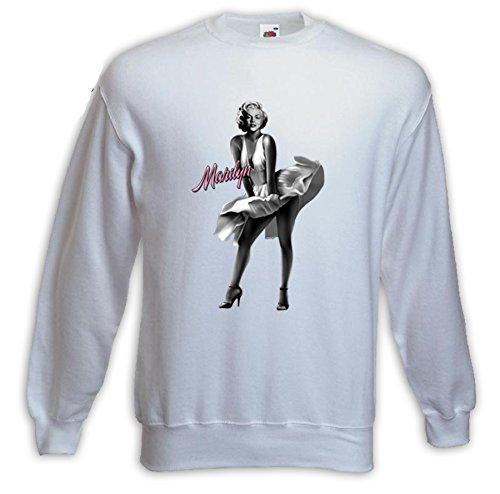 Rockabilly Pullover Marilyn Monroe Kleid weiß Pinup Vintage Tattoo Gr. (Monroe Weißes Marilyn Kleid)