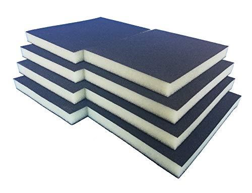 Schleifschwamm Schleifmatte I Körnung K220 8er Set FEIN I DIY, Handschleifer für verschiedene Materialien geeignet I weiches anpassungsfähiges Schleifmittel, Schleifklotz, Schleifblock