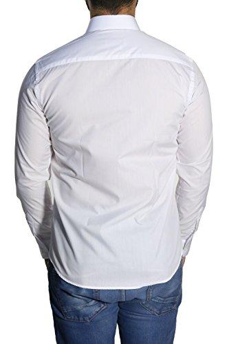 Herren Hemden Extra Slim-fit MUGA Weiß