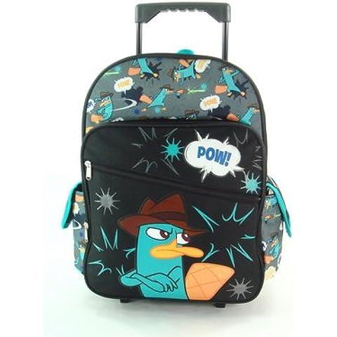 "16""Phineas e Ferb braccia incrociate Rolling backpack-tote-bag-school"