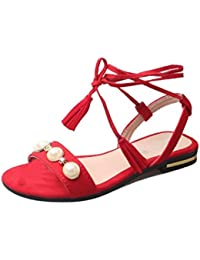 Sandalen Damen Fersen 4 cm Shoes Platform Vintage Sandalen mit komfortablem Offenem Ende 34-43