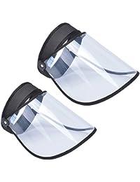 Baseball Cap Sun Bucket Hats For Kids Toddler Packable Visor Full Face Safety Shield Pro Clear Large Wide Brim Fishing Hat Uv Anti-Saliva Anti-Spitting