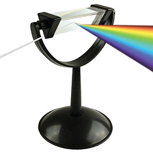 Bloomoak Optisches Glas Ständer Halter Bestes,Glas Prisma und Prisma Fotografie,Kristallprisma Zum Unterrichten von Lichtspektrum Physik