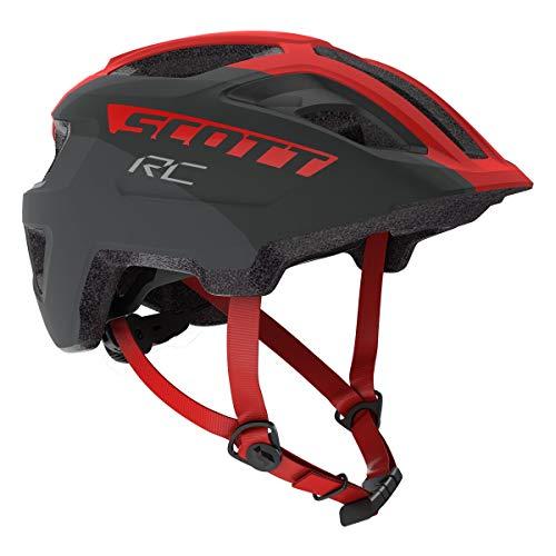 Scott Spunto Junior Kinder Fahrrad Helm Gr.50-56cm grau/rot 2020