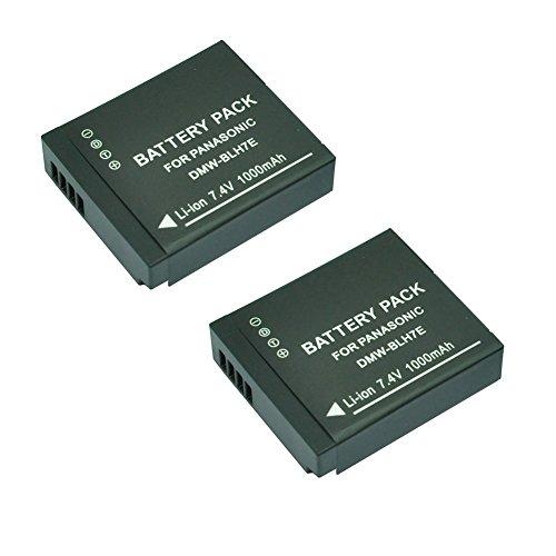 Mondpalast ® Remplacement Batterie x 2 Li-ion type DMW-BLH7E BLH7 BLH7E 1000mAh avec infochip pour Panasonic DMC-GM1 GM1 DMC-GM1K DMC-GM1KS DMC-GF7 GF7 DMC-LX10 DMC-LX15
