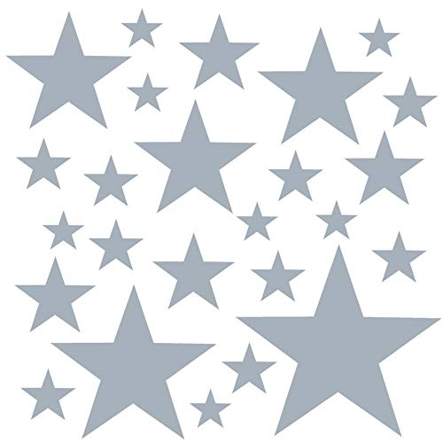 PREMYO 25 Estrellas Pegatinas Pared Infantil - Vinilos Decorativos Habitación Bebé Niños - Fácil...